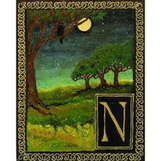 """""""N is for Night,"""" Emily Balivet, 2003. Part of the Medieval Alphabet."""
