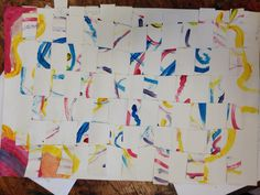 Weave a painting great exploration of color and line and lead to wonderful discussion 3rd-5th grade