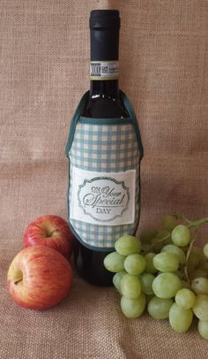 Wine Bottle Apron, On your Special Day, Novelty Gift, Unique Gift Idea.