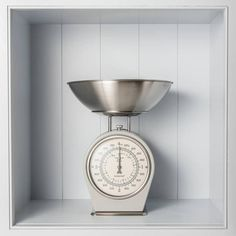 French Grey Kitchen Scales ($50) ❤ liked on Polyvore featuring home, kitchen & dining, kitchen gadgets & tools, metric scale and dial scale