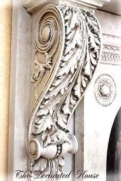 Awesome corbels for faux fireplace