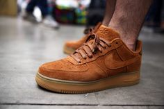 Nike Air Force 1: Brown Suede