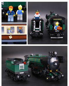 Lepin 21005 Technic Series Emerald Night Train Model Building Kits Block Bricks - Blocks