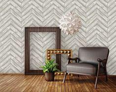 Herringbone Textured Removable Wallpaper