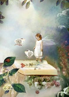 ≍ Nature's Fairy Nymphs ≍ magical elves, sprites, pixies and winged woodland faeries - Charlotte Bird