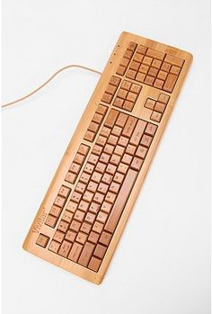 I need a new keyboard at work.  $80, Bamboo Computer Keyboard, Urban Outfitters. Cool.