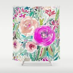Buy Tough Love Floral Shower Curtain by barbraignatiev. Worldwide shipping available at Society6.com. Just one of millions of high quality products available.