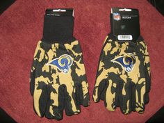 TWO (2) PAIRS OF ST LOUIS RAMS, ALL PURPOSE SPORT UTILITY GLOVES #StLouisRams