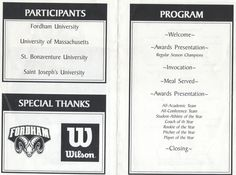 Sports Awards Banquet Program Template   Athletic booster ...