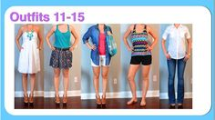 Outfit Posts: (outfits 11-15) one suitcase: beach vacation capsule wardrobe