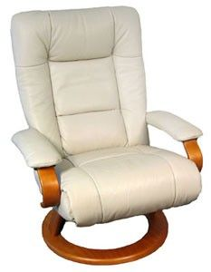 Ella Recliner by Lafer  sc 1 st  Pinterest & Tan bone leatherette recliner captains chair seat swivel rv boat ... islam-shia.org