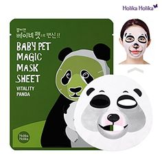 [Holika Holika] Baby Pet Magic Mask Sheet Panda Sheet): The cute panda character mask sheet moisturizes and brightens skin like baby's skin with revitalizing essence. Pet Magic, Cosmetics Market, Baby Skin Care, Face Treatment, Gift Finder, Cute Panda, Sheet Mask, Skin Brightening, Facial Masks