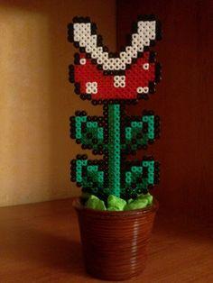 Mario pirahna plant hama perler beads by Isaac Borras