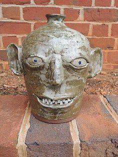 1992 Joe Reinhardt Face Jug Pottery Mint Shape | eBay