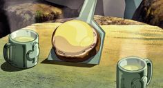 GIF food anime Relaxed laid back cure Mind-blowing over-fancy aroma Seductive appetite dessert Think Food, I Love Food, Miyazaki, Gifs, Totoro, Anime Bento, Natsume Yuujinchou, Anime Gifts, Film D'animation