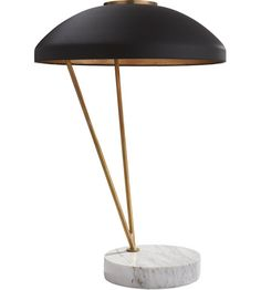 Visual Comfort KW3331AB/BLK Kelly Wearstler Coquette 20 inch 75 watt Antique Burnished Brass Table Lamp Portable Light, Kelly Wearstler, Black Shade photo