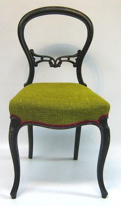 Victorian balloon back lime green tweed by SomethingOrOtherUk, £245.00