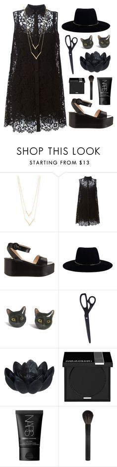 """black cat"" by red-moon-98 ❤ liked on Polyvore featuring Jennifer Zeuner, Dolce&Gabbana, Prada, Zimmermann, Sia, MAKE UP FOR EVER, NARS Cosmetics and Giorgio Armani"