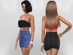 Puresim's Suede Skirt