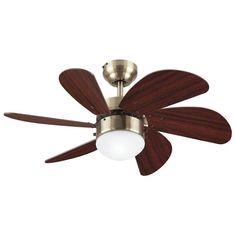 We love the curvy lines on this ceiling fan!