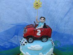 torta de auto mini niño