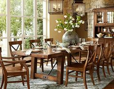 dining room potery barn | Benchwright Extending Dining Table Benchwright Buffet & Hutch Bolton ...