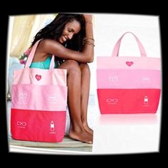 """HP NWT Victoria's Secret Ltd. Edition Beach Tote  Host Pick for the Spring Ready Party 4-10-16 Chosen by @mikesdumplin ❤️  NWT Victoria's Secret Limited Edition Summer Beach Tote. Still in Package. Has three shades of pink stripes with four exterior pockets. Bottom is lined. Cotton canvas material. Measurements 16"""" Wide, 4.5"""" D and 18"""" Height.   NO TRADES OR LOWBALL OFFERSPRICE IS FIRM Victoria's Secret Bags Totes"""