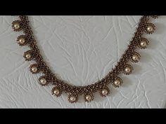 İncili Kum Boncuk Kolye - İncili Kolye Yapımı- Pearl Bead Necklace - YouTube Bead Jewellery, Pearl Jewelry, Bridal Jewelry, Jewelery, Jewelry Logo, Jewelry Quotes, Crystal Jewelry, Indian Jewelry, Jewelry Shop