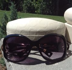 Free: Juicy Couture Peace Sign Sunglasses And COACH Sunglasses Case - Other Women's Clothing - Listia.com Auctions for Free Stuff