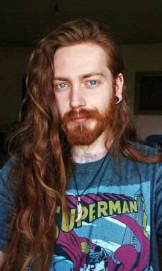 Damn ❤️ long me long hair on a dude and facial/body hair Red Hair Men, Long Red Hair, Red Hair Blue Eyes Boy, Boys Long Hair, Perfect Beard, Beard Love, Ginger Men, Ginger Hair, Ginger Beard