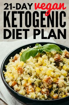 This vegan ketogenic diet plan is filled with simple, easy-to-make, low carb vegan keto recipes you'll love. With over 80 recipes to choose from, weight loss has never tasted so good! Vegan Keto Diet Plan, Keto Vegan, Vegan Keto Recipes, Vegan Meal Plans, Ketogenic Diet Plan, Keto Meal Plan, Diet Meal Plans, Low Carb Diet, Ketogenic Recipes