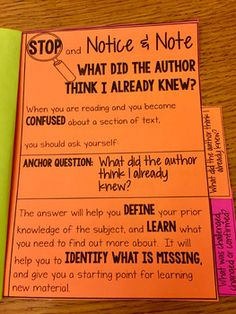 Notice and Note NONFICTION Signpost Tabbed Booklet - Interactive Notebooks