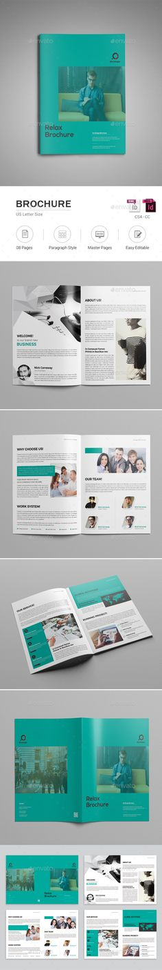 8 Pages InDesign Brochure  Template • Only available here ➝ https://graphicriver.net/item/8-pages-indesign-brochure-template/17650578?ref=pxcr