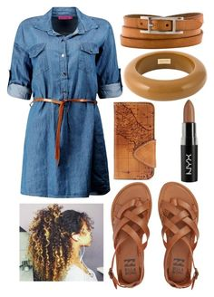 """""""Out in town"""" by musicmelody1 on Polyvore featuring Billabong, Patricia Nash, Hermès, Dsquared2 and NYX"""