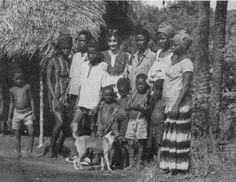 Tribal people with basenji