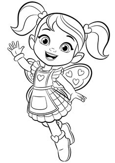 Best Butterbeans Cafe Coloring Page for Little Girls in