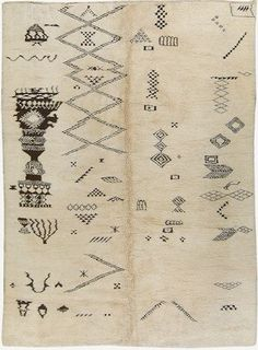 The motive used in rugs from the Middle Atlas tell a tale. In this piece it tells a life story