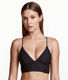 Check this out! Fully lined bikini top with narrow, adjustable shoulder straps that fasten various ways at back. Removable inserts and no fasteners. - Visit hm.com to see more.