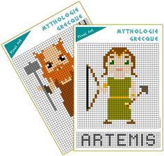 pixel art mythologie olympe Cycle 3, History Teachers, Art History, Animation, Education, Maths, Cycling Art, Apple School, Core French