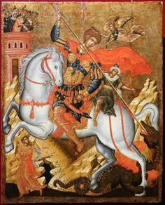 Byzantine Icons, Byzantine Art, Russian Icons, Biblical Art, Religious Icons, Catholic Art, Orthodox Icons, Saint George, Dark Ages