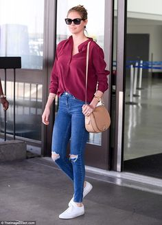 Model power: Kate Upton once again proved she can turn any walk into a catwalk as she looked effortlessly fabulous at LAX on Friday