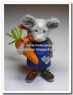 Very Cute crochet mice.