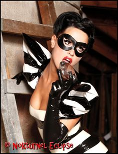 Black Leather Mask Harley Quinn Catwoman Adult Superhero Halloween Costume Masquerade Ball Carnival Party Mask Unisex AVAILABLE In ANY COLOR $19.99