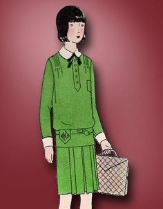 1920s Original Charming Unused Junior Flapper Frock Pattern | eBay