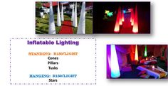 Create the perfect atmosphere for your evening parties with inflatable lighting