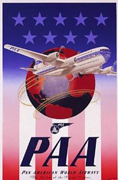 PAA Pan American Airways (Pan AM) System of the Flying Clippers Classic Promotional Travel Poster Travel Ads, Airline Travel, Air Travel, Beach Travel, Travel Photos, Retro Poster, Poster Ads, Vintage Advertisements, Vintage Ads
