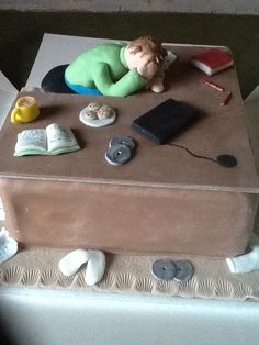 A friend's son - nodded off at his desk