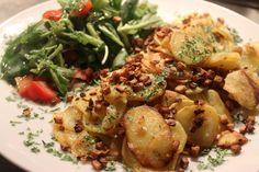 Oh wie lecker: Bratkartoffeln mit Räuchertofu