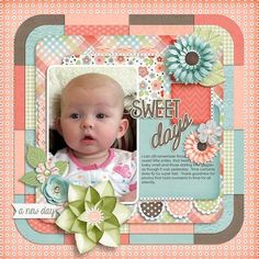 Layout using {This Is The Day} Digital Scrapbooking Collection by Ooh La La Scraps--Could make this into a non digital layout.