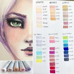 I'm so overwhelmed and thankful for your amazing feedback to my Copic Girls!  But I also have a bit of guilty conscience to all of those who tried to resist Copics and are losing this fight  These are all my Copic Scetch colors (for now ) . For those who want to buy any Copics, here is my advice - take a few and try them out at first. The most of us has enough art supplies that we don't use and Copics are expensive. You can also take Copic Chao - they have the same product in, a...